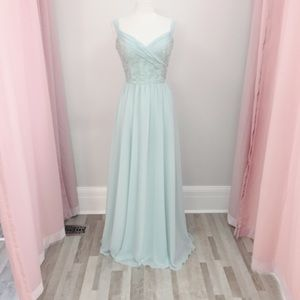 Morilee bridesmaid gown 21614 in SeaGlass size 14